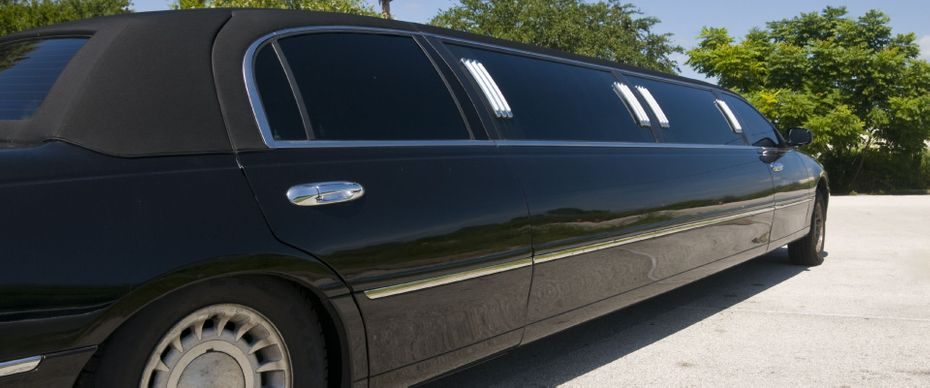 limo with tinted windows